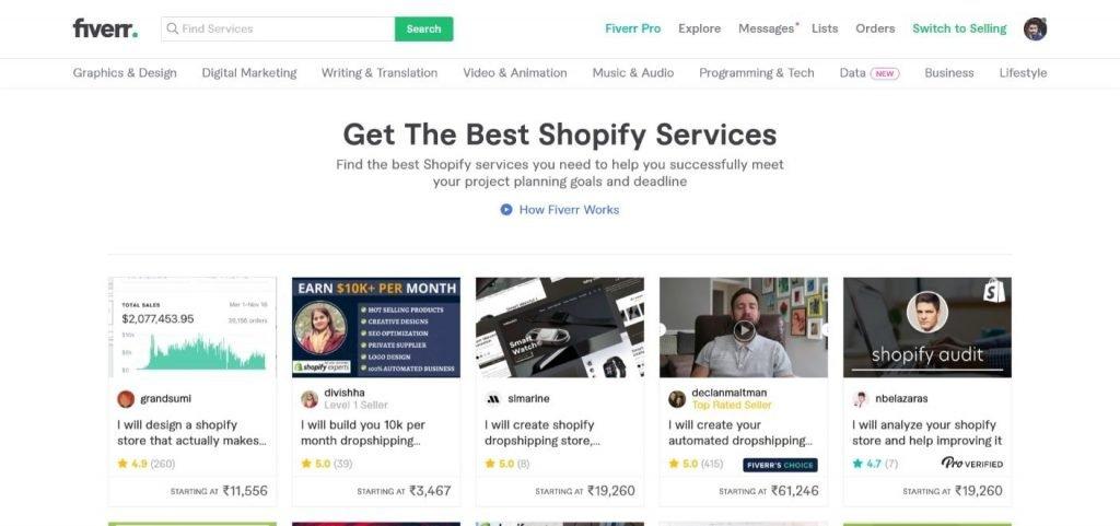 Fiverr Shopify